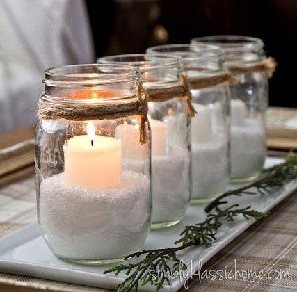 candele natalizie fai da te1
